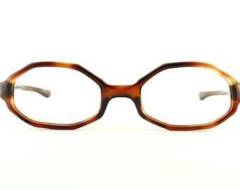 Vintage Deadstock 60's Octagonal Milappe Society Girl Eyeglass Frames France Readers - FREE Domestic Shipping