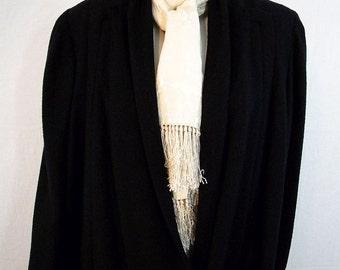 Elegant 1940s Vintage Ladies Lightweight Wool Coat Plus Size