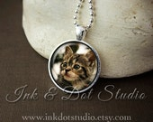 Cat Portrait Necklace, Custom Cat Necklace, Pet Portrait Pendant, Pet Photo Gift, Pet Portrait Necklace, Cat Lover Gift, Dog Lover Gift
