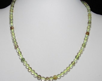nice Necklace 50cm IN Rutilated Quartz Gemstone and 925 Silver
