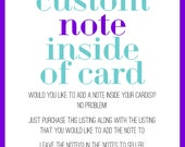 Custom note inside of card fee / Personalize Your Message to Recipient