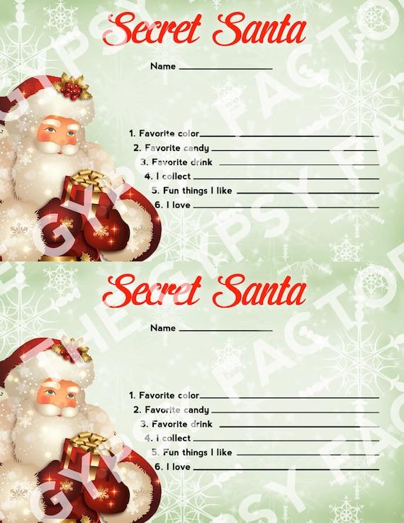 Geeky image throughout secret santa printable forms
