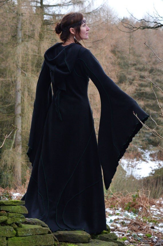 Floor Length Haunted Hawtin Coat - Long Black Coat - Custom made to order - Halloween - Samhain- Fall - Autumn - Winter  Coat