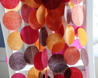 Tissue Paper Garland, Party Garland, Fall Garland, Wedding Garland, Autumn Garland, Photo Background- Autumn Leaves