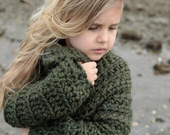 CROCHET PATTERN-The Thurston Sweater (2, 3/4, 5/7, 8/10, 11/13, 14/16, S/M, L/XL sizes)