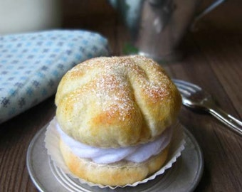 Felt Food Cream Puff/Profiterole Play Food or Pincushion