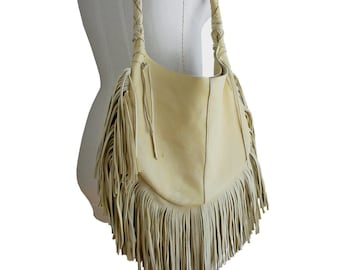 Leather fringe bag | Etsy
