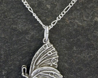Sterling Silver Butterfly Pendant on a Sterling Silver Chain.