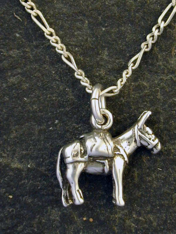 Sterling Silver Pack Mule Pendant on Sterling Silver Chain.