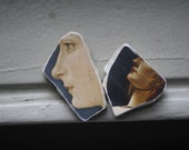 Old Masters Ladies Photo Stones Miniature Wall Hangings Set of Two