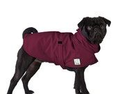 PUG Dog Rain Coat, Dog Raincoat, Rain Slicker, Dog Coat