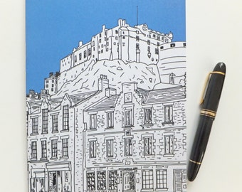Edinburgh Journal , Blue Journal, Scottish Travel Journal,  Edinburgh Castle Notebook, A5 sketchbook