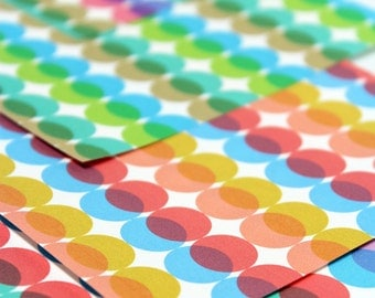 Mod Dots Origami Paper - Medium 5 inch, 8 sheets, 60's Circle Pattern,  Origami Supplies, Paper Supplies