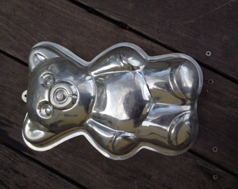 Vintage Metal 3D Teddy Bear Cake Bake Form Pastry Brownie Muffin Form Cake Mold Gift for Her Mother's Day RA