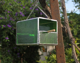 Hanging bird feeder - hanging glass bird feeder