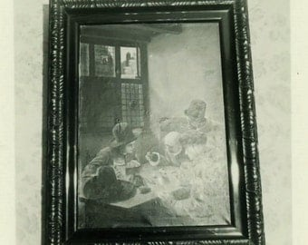 "Vintage Photo ""Still Life Painting"" Snapshot Antique Photo Old Black & White Photograph Found Paper Ephemera Vernacular - 84"