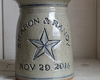Personalized Stoneware Marriage Crock