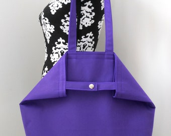 Oh So Vogue Large Tote in Bold Purple w/Matching Key Strap
