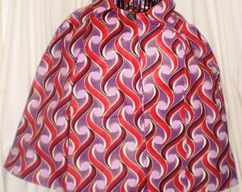 Madeline Ankara Lined Cape with thru arm opening