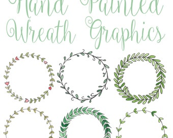 wreath graphics high resolution 600dpi hand drawn laurel wreath ...