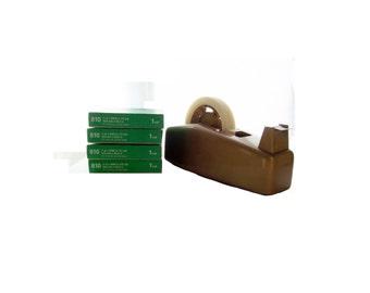 Scotch Heavy Duty Tape Dispenser & 5 Rolls New Tape Vintage Model C-23 By 3M Company