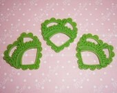 Green Sweetheart Pendant Charms - 3 pcs