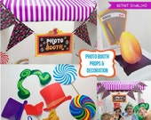 Willy Wonka Props Printable Kit - INSTANT DOWNLOAD