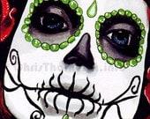 """Day of the Dead - """"Dia de los Muertos"""" Art Print (11x17)"""