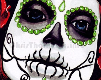 "Day of the Dead - ""Dia de los Muertos"" Art Print (11x17)"