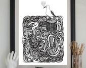 Sea Gull Screen Print, Ocean