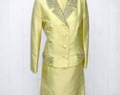 SALE Lemon Yellow Dress Suit * 60s Dress * Dress and Jacket * Jack Bryan * Lemon Yellow Dress * Yellow Shift Dress * Shantung Silk Dress