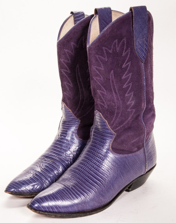 Model  Cowgirl Boots  Women39s Ferrini Purple Embossed Cowgirl Boots Item