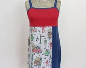 Reserved for Elizabeth - Sesame Street Sings Upcycled Cotton Dress, size 8-10
