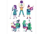 Music Makers - Art Print