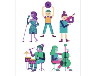 Music Makers - Art Print