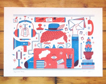 Publishing Things - Risograph Print