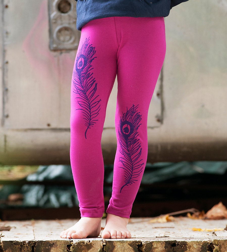 Peacock Leggings Girls Leggings Cute Leggings Back to