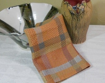 E632 Handwoven Table Centerpiece or Dresser Scarf - Summer and Winter