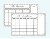 24x36 Personalized Wall-sized Dry-erase Perpetual Calendar with Patterned Background Options
