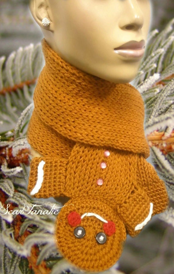 PATTERN ONLY Loom Knit Crochet Gingerbread Man by ScarFanatic