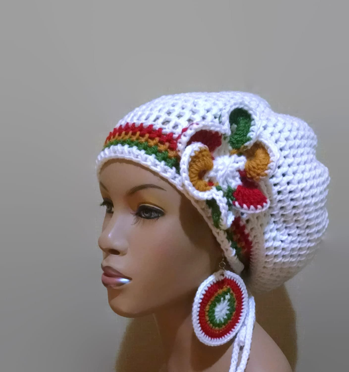 Baby Rasta Hat Knitting Pattern : Instant Download Crochet Pattern adjustable Slouch hat/Dreadlock hat/Tam with...