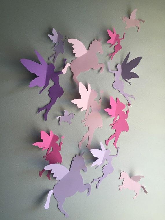 Unicorn And Fairy Wall Decor 3d Unicorn And Fairy By