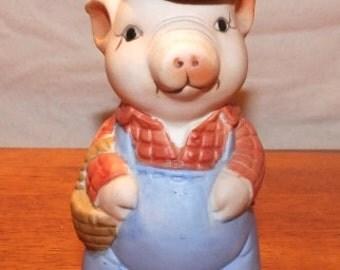 Farmer Pig Coin Bank
