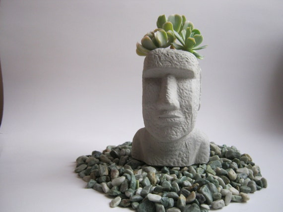Planter Easter Island Head Succulent Plant Pot Cacti