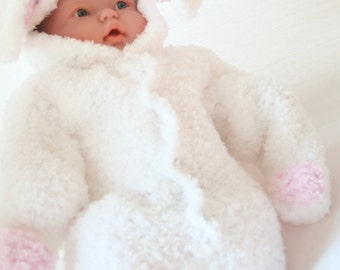 DIGITAL PATTERN:Baby Bunny Costume Pattern,Knit Baby Boy,Newborn Costume Photography Prop,Knit Bunny Outfit,Knit Baby Costume,Bunny Pattern