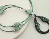 Verdigris Patina Lanyard, ID Badge Lanyard, ID Badge Holder, Eyeglass Necklace, Eyeglass Loop, Eyeglass Chain, Eyeglass Lanyard, Lanyard