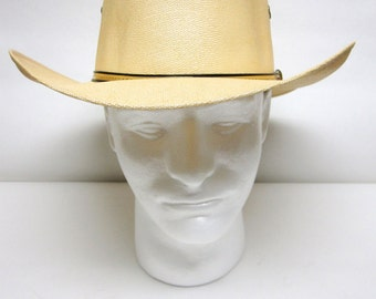 Wide Brimmed Hat Sun Straw Brown Cowboy Western
