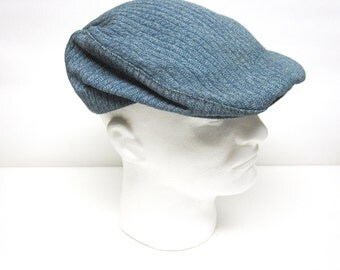 Vintage Newsboy Cap / Beret Ribbed Gray English Style Made In London England