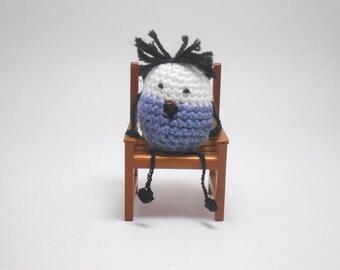 Little Crochet People, Desk Toy, Tiny People, Little People, Mr Blue