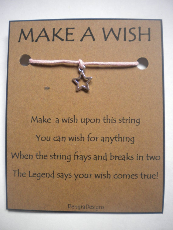 Hollow STAR WISH STRING Charm Bracelet Cord - Small Star